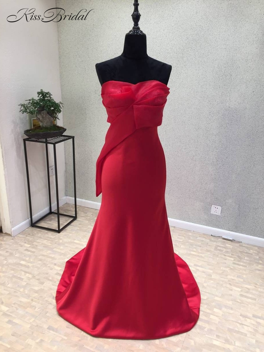 Vestido festa Sexy Long   Prom     Dresses   2018 Strapless Off the Shoulder Floor Length Satin Evening   Dress   Formal Gowns abiye