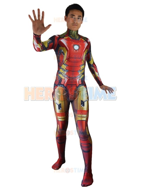 The Avengers Iron Man Costume 3D Print Spandex Male Tight Zentai - Կարնավալային հագուստները