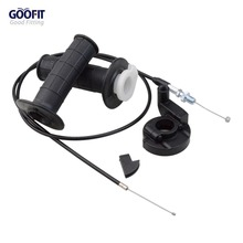 GOOFIT Throttle Grips Cable Universal 7/8 Handlebar Grip Twist 1200 mm ATV Dirt Bike Pit H388-038