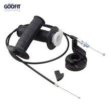 GOOFIT Throttle Grips Cable Universal 7/8 Handlebar Grip Twist Throttle 1200 mm Cable ATV Dirt Bike Pit Bike H388-038 цена
