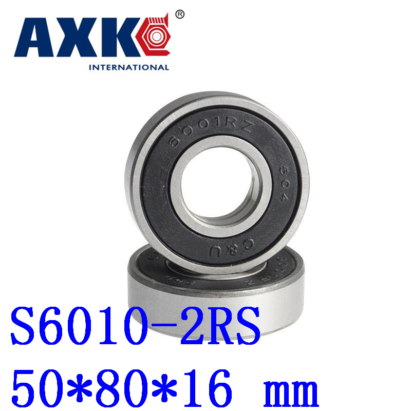 2018 Rolamentos 1pcs Free Shipping Sus440c Environmental Corrosion Resistant Bearings (rubber Seal Cover) S6010-2rs 50*80*16 Mm high quality sus440c environmental corrosion resistant stainless steel deep groove ball bearings s6210zz 50 90 20 mm