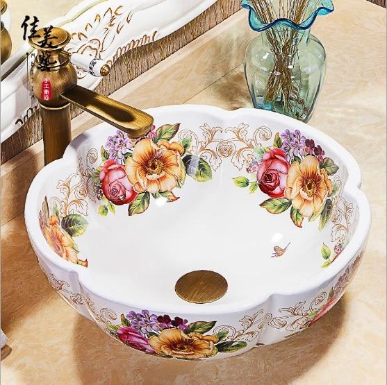 Europe Vintage Style Ceramic Sinks Counter Top Wash Basin Bathroom Sink  Ceramic Bowl Wash Basin In Vases From Home U0026 Garden On Aliexpress.com |  Alibaba ...