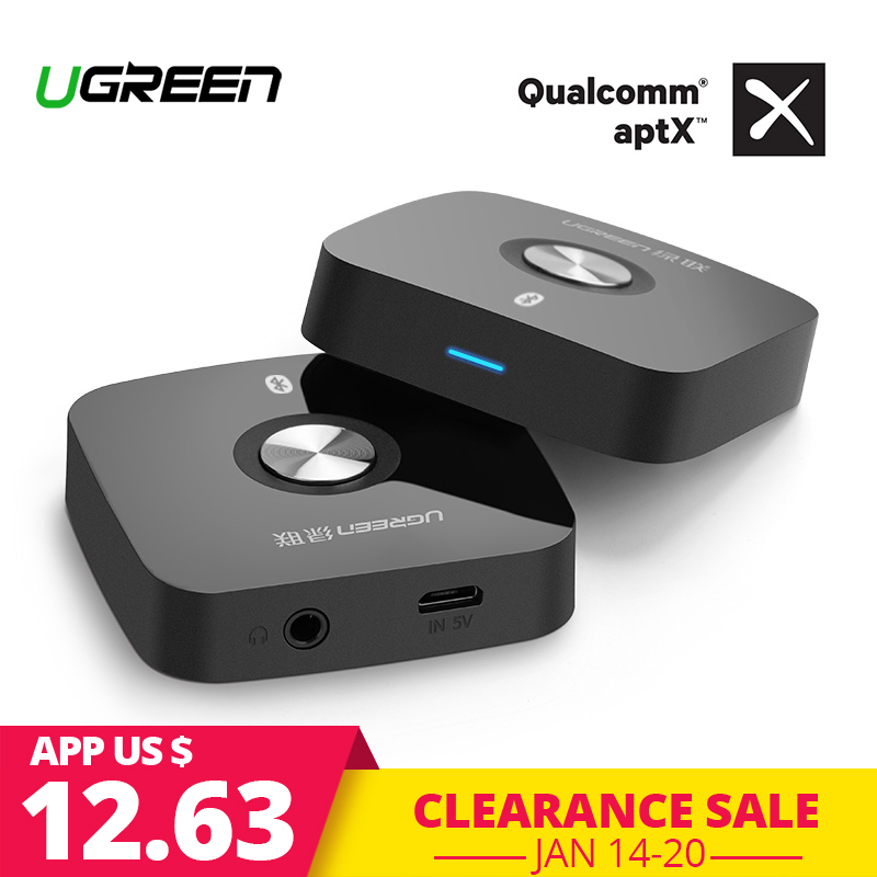 Ugreen 4,2 Drahtlose Bluetooth Empfänger 3,5 MM Aux receiver Audio Stereo Music Receiver Bluetooth Audio Adapter Auto Aux Empfänger