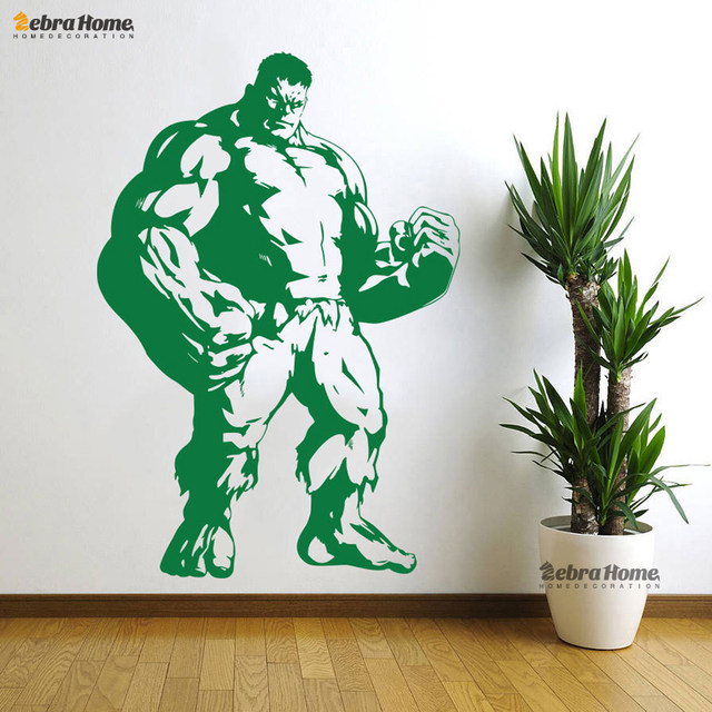 Batman Captain America Hulk Superman Wall Decal Stickers For Living Room  Art Vinyl Murals Wallpaper For Bedroom Home Decoration