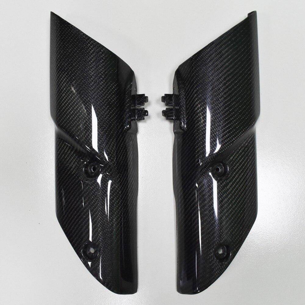 De fibra de carbono de la izquierda y a la derecha la suspensión delantera Panel de cubierta parte carenado carrocería para Kawasaki Z1000 2010-2013 [PA522]