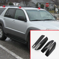 Exterior Car Styling Roof Rack Luggage Bar Rail End Shell Cover Trim 4 pcs For Toyota 4Runner N210 2003 2009