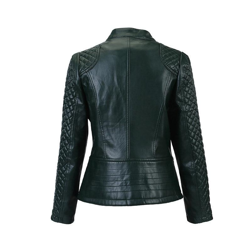 Flymokoii Կաշվե բաճկոն գարուն Plus Plus Չափ 4XL - Կանացի հագուստ - Լուսանկար 5