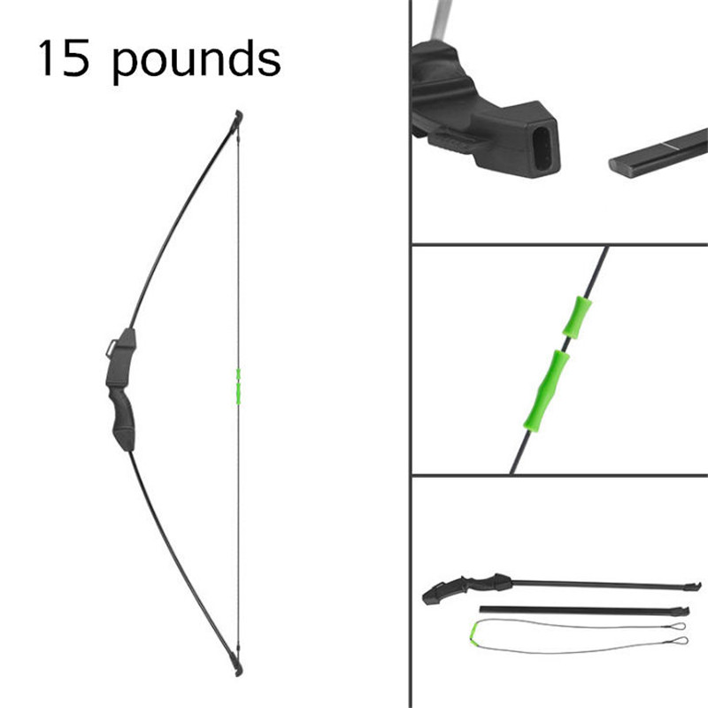 115cm Archery Recurve Bow Draw Weight 15 pounds High Strength Fiberglass Limbs for Outdoor Hunting Shotting