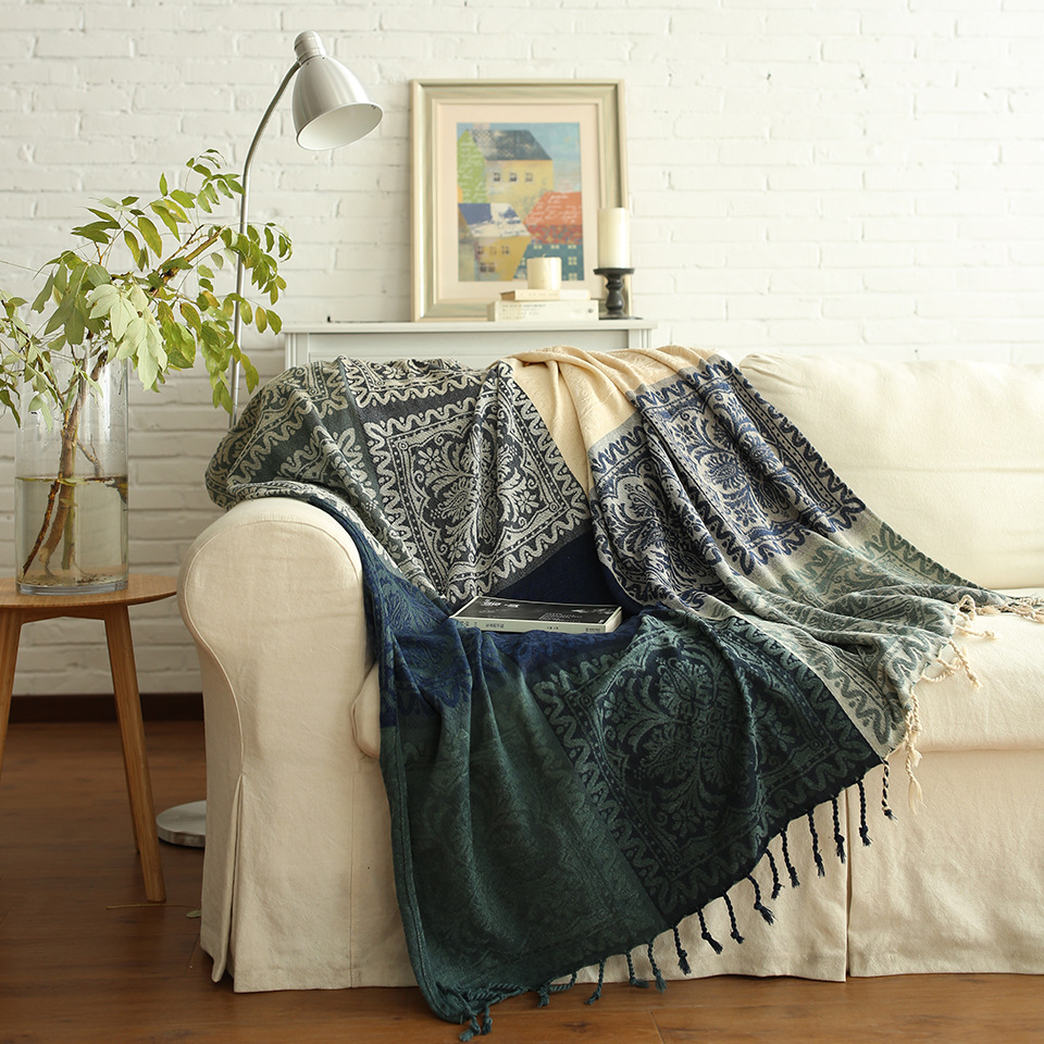 Mdct Chenille Blankets Bed Spread Sofa Chair Throw Table Cover Picnic Travel Airplane Blanket Tapestry Home Decorative Carpet In From Garden