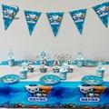 62 шт. для 12 детских столовых приборов, набор посуды, тарелка, соломенная стеклянная скатерть, баннер для обертывания капкейков и т. д.