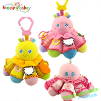 Baby Infant Animal Soft Rattles Bed Crib Stroller Music Hanging Bell Toy Octopus Kawaii Kids Stuffed
