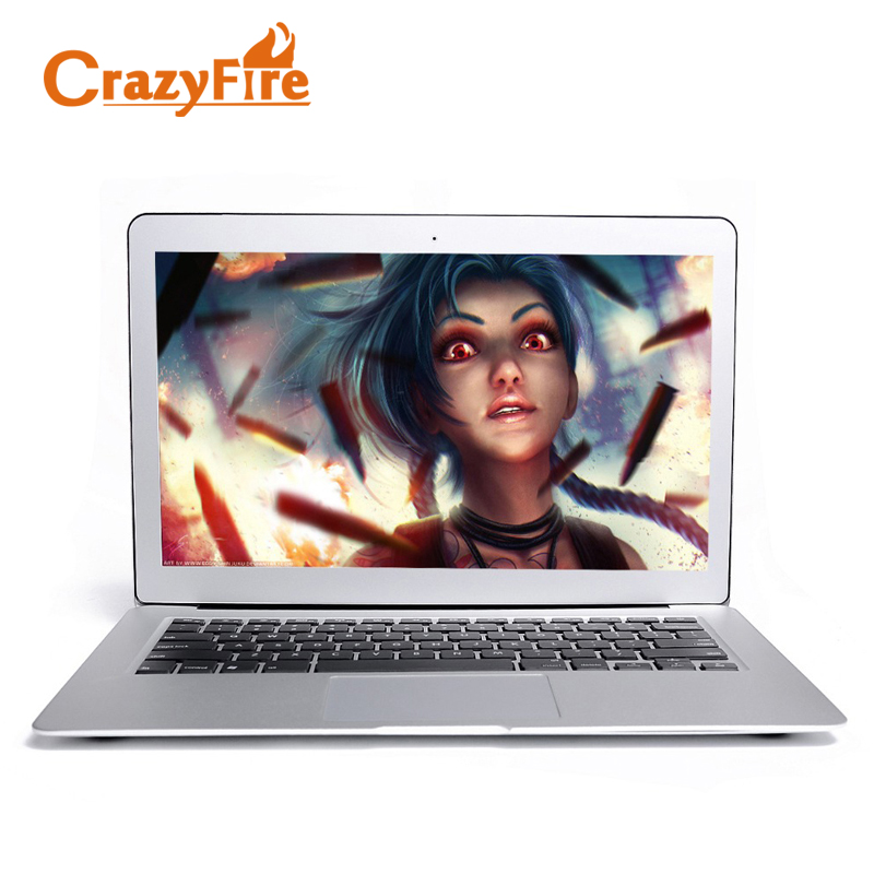 Crazyfire Ultra Slim Laptop Computer 4GB RAM & 256GB SSD 13.3 Inch Aluminum Alloy Case Notebook Intel 1037U Dual Core HDMI WIFI 14 inch laptop computer 4gb ram