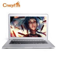 CrazyFire сверхтонкий ноутбук 4 ГБ Оперативная память и 256 ГБ SSD 13.3 дюймов алюминиевого сплава ноутбук Intel 1037U Dual Core HDMI WI-FI