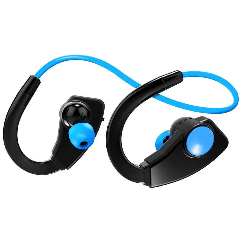 Sport Bluetooth Earphone With 8GB MP3 Player FM Radio Wireless Headset Waterproof Bluetooth Headphone Music Player Wlakman Mic