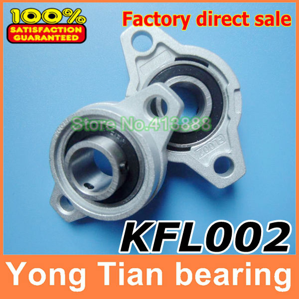 15 mm caliber Zinc Alloy Miniature Bearings pedestal <font><b>KFL002</b></font> UCFL002 FL002 diamond flange bearings pedestal image