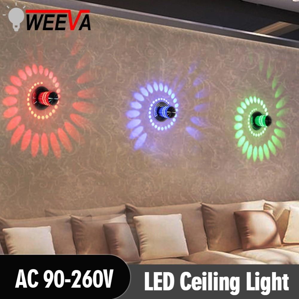 Praktisch Weeva Oberfläche Montieren Flush Balkon Korridore Beleuchtung Moderne Led Wand Licht 3 W Rgb Veranda Lampe Leuchte Wohnzimmer Decor Schrecklicher Wert Led-innenwandleuchten Led-lampen