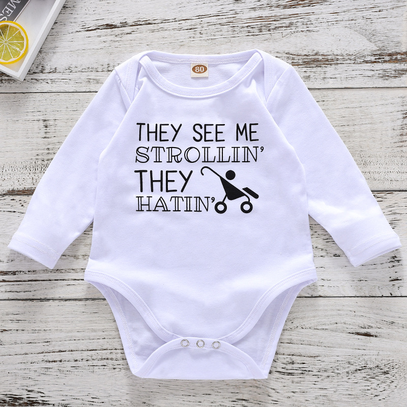 VTOM Newborn Baby Rompers Infant Toddler Long Sleeved Rompers Baby Jumpsuits Baby Cotton Clothes Boys And GIrls clothes in Rompers from Mother Kids