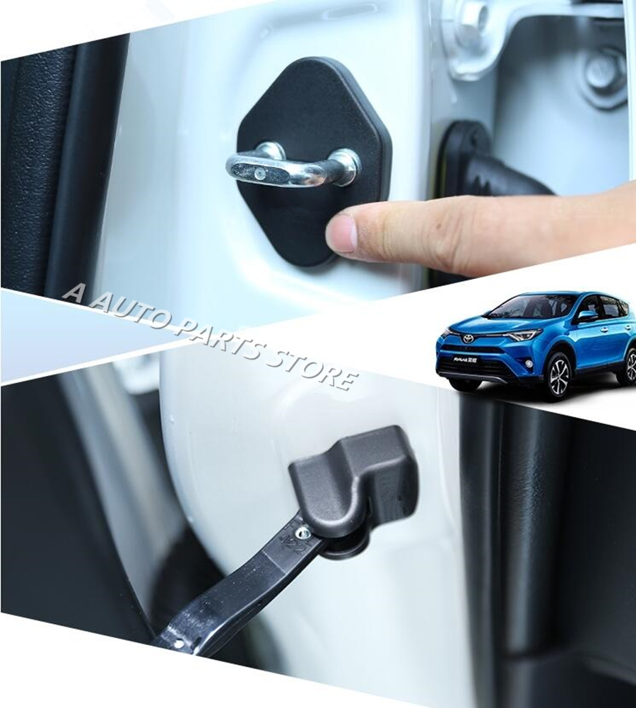 Blue Stainless Car Door Lock Protection Cover For Mitsubishi Outlander 2013-2018