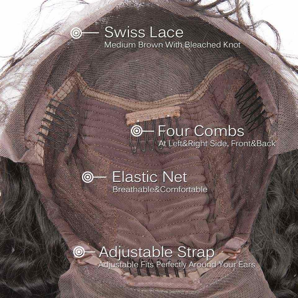 קצר תחרה מול שיער טבעי פאות פרואני טבעי גל רמי שיער בוב פאה עם מראש קטף קו שיער תחרה פאת משלוח חינם
