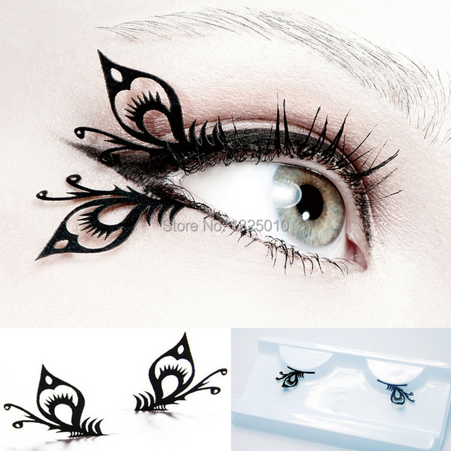 Amiri Paper Cut Black False Eyelashes Butterfly Az40 International