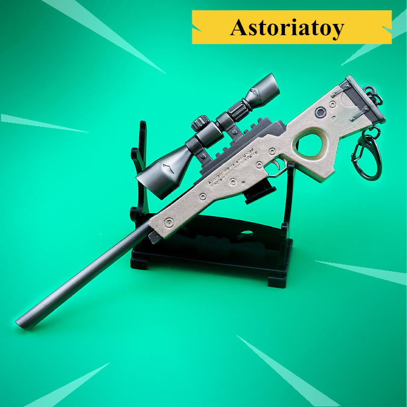 Fortnight Battle Royale Toy Model The Bolt-action Sniper Rifle Keychain Alloy Weapons Kids Toy Collection DecorationFortnight Battle Royale Toy Model The Bolt-action Sniper Rifle Keychain Alloy Weapons Kids Toy Collection Decoration