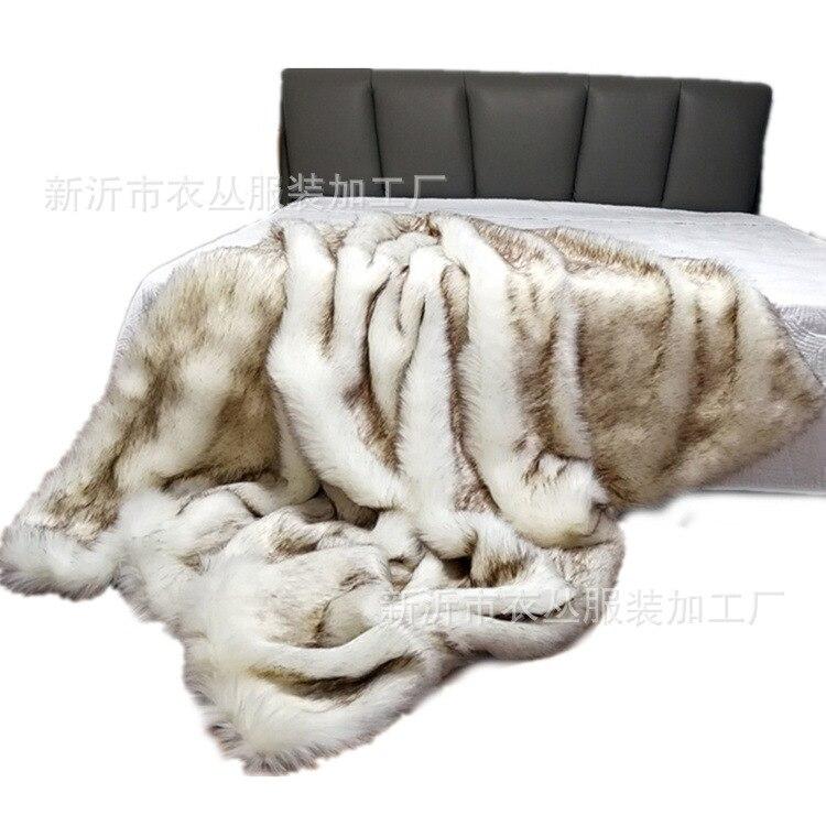 Faux Fox Hair Fur Throw Blanket 150x200cm