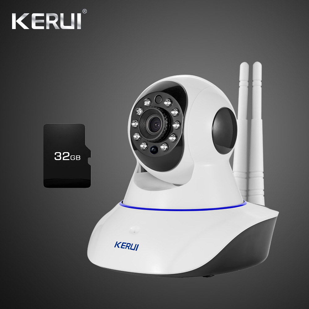 Latest Version KERUI IWifi IP ISO Android APP Remote Control HD IP Camera WiFi Vandal proof