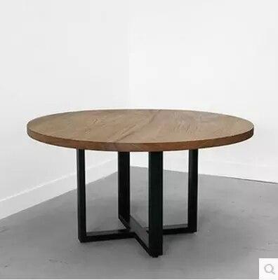 Ikea vintage hierro americano mesa redonda de madera - Mesa de madera redonda ...