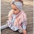 Hecho a mano del bebé niñas con flecos chaleco marca niños chaleco Otoño Invierno prendas de vestir exteriores del faux niños suéter cardigan ropa de los cabritos
