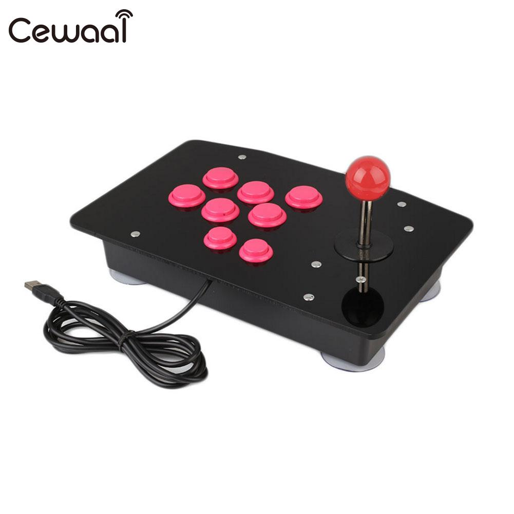 Wired Arcade Game Controller Arcade Fighting Stick for PC De