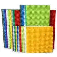 KAZI классические базовые пластины пластиковые кирпичи опорные пластины Совместимость Legoe основных брендов строительные блоки строительные игрушки 32*32 точки