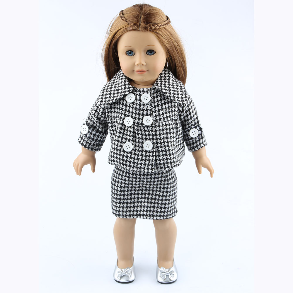 18 inch American girl dolls clothes manually white wedding dresses children Christmas gift free shipping W29