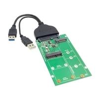 USB 3.0 to SATA 22pin 2.5 Hard Disk to 2 in 1 Combo Mini PCI E 2 Lane M.2 NGFF & mSATA SSD Adapter Converter