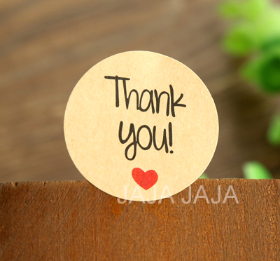 (100pcs/lot) Kraft paper Thank You packaging label  Seal Sticker Round Stickers for Gift  Adhesive Sticker(tt-1147) домкрат kraft кт 800026
