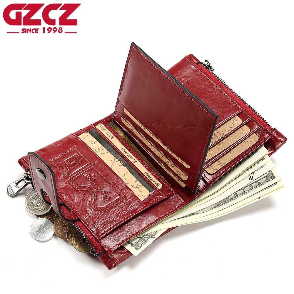 Carteira de couro genuíno das mulheres pela qualidade do couro das mulheres carteira ocasional dos homens carteira vertical de couro da forma senhora vermelha