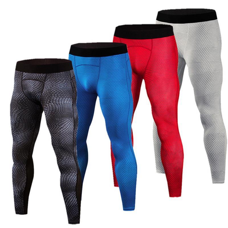 df174490b5eaba New Snake skin printed running pants men compression Leggings sports Gym  fitness men's Crossfit Tight pants capris Sweatpants