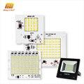 Lámpara LED Chip SMD2835 cuentas inteligente IC 220 V de entrada 10 W 20 W 30 W 50 W 100 W DIY para reflector al aire libre foco frío blanco cálido blanco