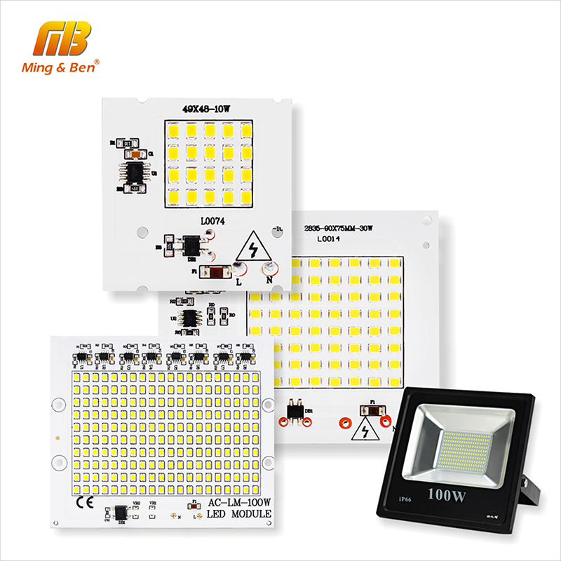 LED Lamp Chip SMD2835 Beads Smart IC 220V Input 10W 20W 30W 50W 100W DIY For Outdoor Floodlight Spotlight Cold White Warm White