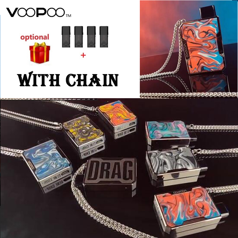 Updated Version ! VOOPOO DRAG Nano Pod Kit W/ 750mAh Battery & 1.0ml DRAG Nano Pod Cartridge E-cig Vape Kit VS Drag Mini/ Drag 2