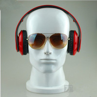 Free Shipping!!New Fashion High Quality Male fiberglass Men mannequin head Model for glass & Earphone & wig