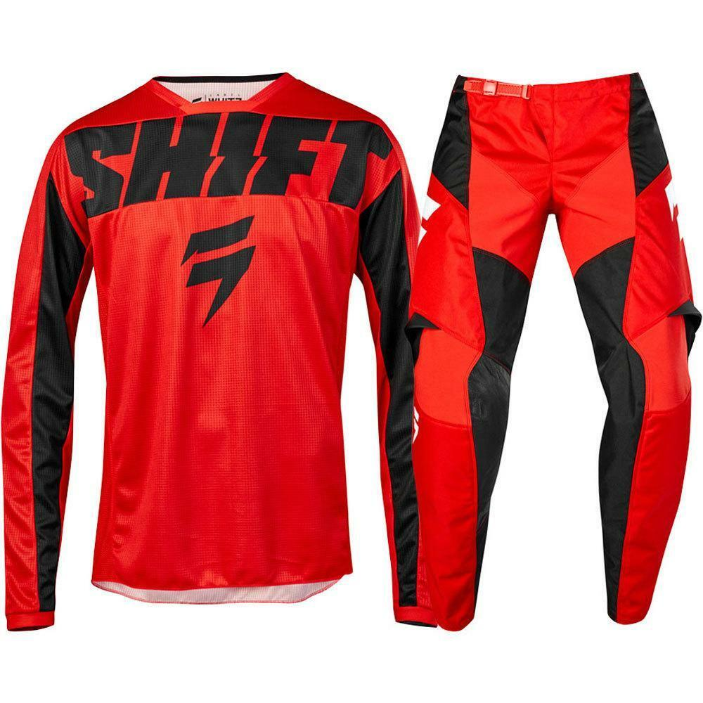 2019 NEW MX WHIT3 Label York RED Jersey Pants Adult Motocross Gear Set Racing Gear Combination