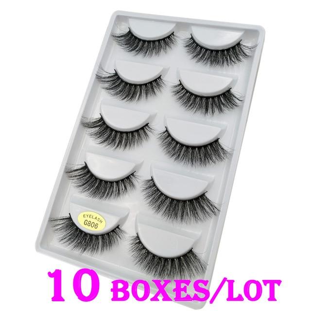 4e405ae0ed7 50 Pairs/Lot 100% Real Mink Fur Winged Short 3D False Eyelashes Fake Eye  Lashes Cosmetic Made In China