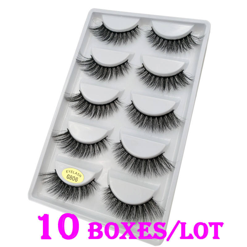 6ac89eae1e6 50 Pairs/Lot 100% Real Mink Fur Winged Short 3D False Eyelashes Fake Eye  Lashes Cosmetic Made In China - jabee review