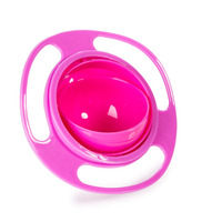 Lovely Cute Children Kid Baby Toy Universal 360 Rotate Spill-Proof Bowl Not inverted UFO Bowl Creative Fantastic and Practical