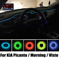 Car-Styling 9 M EL Alambre Para KIA Picanto/Mañana/Visto/Ambiente Romántico de La Lámpara Interior del coche/Decoración Línea de Luz Fría