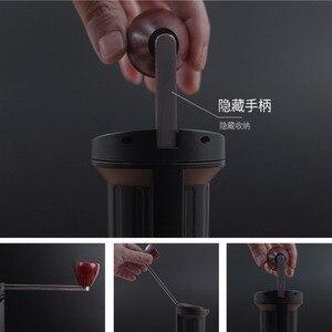 Image 3 - Improved version portable coffee mill Manual coffee grinder Stainless steel burr Hidden handle grinder