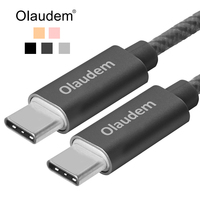 Olaudem USB 2 0 Type C To Type C Cable USB C Meshed 3A Charging Data