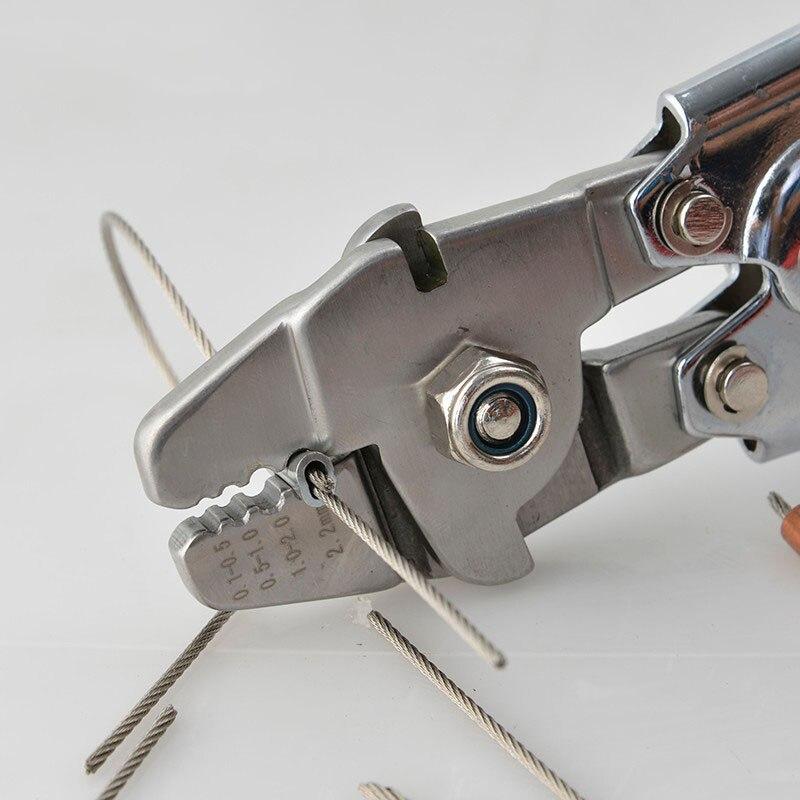 Наконечники обжимной инструмент зажимной инструмент стальной трос режущий рабочий для 0,5 мм-2,2 мм размер стальной трос и наконечники