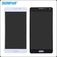 Samsung Galaxy A5 SM-A500 A500F Için siyah Beyaz LCD Ekran Dokunmatik Ekran Digitizer Onarım Parçaları Tam Meclisi Yedek Parçalar