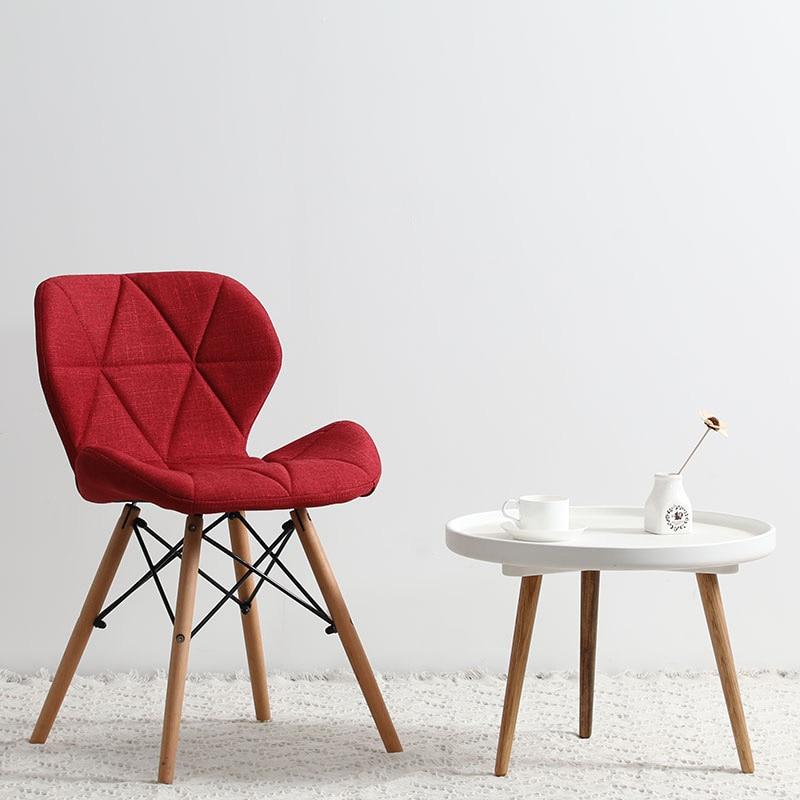 Современный минималистичный стол компьютерный стул домашний Ресторан обеденный стул из твердой древесины скандинавский диван спинка макияж пляж - Цвет: L